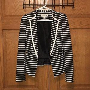 Forever 21 Black & White Striped Blazer